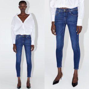 Zara Midrise Skinny Jeans in Dark Blue
